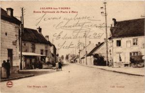 CPA Jalons les Vignes - Route Nationale (364317)