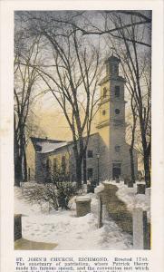RICHMOND, Virginia, 1900-1910´s; St. John´s Church