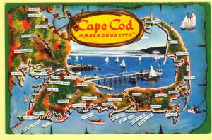 MAP OF BOSTON,SOUTH SHORE,PLYMOUTH AND CAPE COD, MASSACHISETTS   SEE SCAN  134