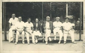 Tennis players early photo postcard dated 1934