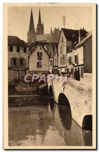 Old Postcard La Douce France Chartres Old Bridge and Old Houses Brebion