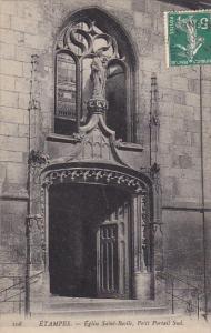 Eglise Saint-Basile, Petit Portail Sud, Etampes, France, PU-1908