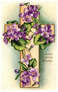 Easter,  Cross with flowers