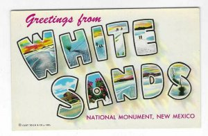 1950's Greetings from White Sands, New Mexico Chrome NOS Postcard
