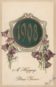 AS: NEW YEAR 1908; A Happy New Year, PU-1907; PFB 7299