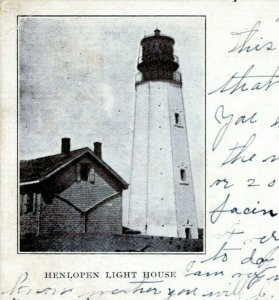 Lewes Rehoboth Delaware Postcard 1906 Cape Henlopen Lighthouse Undivided MU