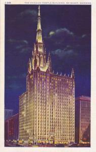 Methodist Temple Building at Night - Chicago IL, Illinois - WB