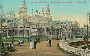 Postcard LONDON Exhibition Franco-British Pavilion Franco British Expo 1908