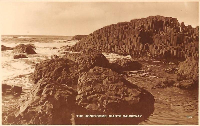 Northern Ireland Giant's Causeway, The Honeycomb, Real Photograph