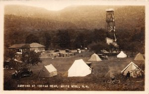 H74/ White Mountains New Hampshire RPPC Postcard c1910 Camp Indian Head 123