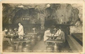 Pleven Bulgaria Kaylik cave restaurant interior photo postcard