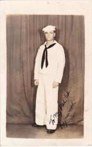 RP; Autographed, Navy Sailor in Uniform, 1930-1950s