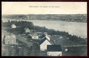 dc1061 - CHICOUTIMI Quebec Postcard 1910s Birds Eye View by Cote