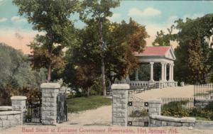 HOT SPRINGS, Arkansas, 1910s; Band Stand at Entrance Government Reservation