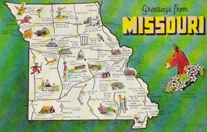 Missouri Greetings With Map