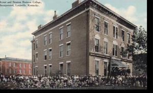 Kentucky Louisville Bryant & Stratton Business College 1910 Curteich
