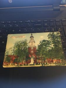 Vintage Postcard: Rear view, Independence Hall , And Barry Statue, Philidelphia