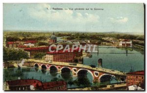Postcard Old Toulouse Vue Generale On the Garonne