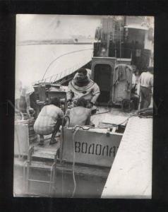 055821 DIVER Clothing Vintage rare photo RUSSIAn ship VODOLAZ