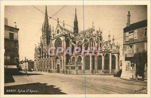 Old Postcard Nancy Church St Epvre