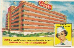 DURHAM , North Carolinja , 50-60s ; CHESTERFIELD Cigarette factory!