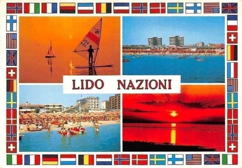 Italy Lido Nazioni, Sunset Surfers Beach Plage Spiaggia