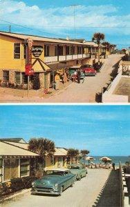 Daytona Beach FL Breezway Motel & Cottage Colony Old Cars Postcard