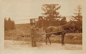 Belfast ME Snow & Allen Market Delivery Horse & Wagon Real Photo Postcard