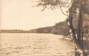 Greenfield New Hampshire birds eye view Otter Lake real photo pc Y14785