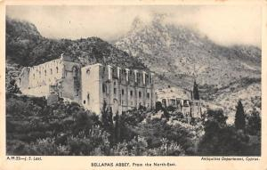 uk3118 bellapais abbey antiquities department real photo cyprus
