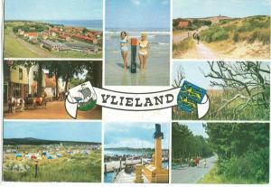 Holland, Netherlands, Vlieland multi view1960s used Postcard