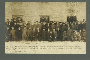 Mt. Morris ILLINOIS RPPC 1912 HOMELESS STUDENTS Fire Raising Money C.R. CHILDS