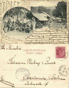 burma, Burmese Village and Native Hill Tribes (1905) Postcard