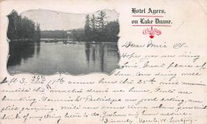 Hotel Ayers on Lake Duane, New York, Very Early  Postcard, Used in 1903