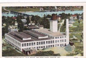 Dominion Combing Mills, C.N.R. Bridge & Trent River, Ontario, Canada, 10-30s