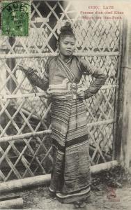 CPA LAOS LAOS Hao-Panh - Fenne d'un Chef Khas (61996)