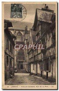 Lisieux Old Postcard Old Houses Peace Street