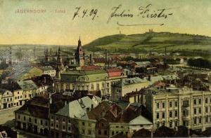 czech, KRNOV JÄGERNDORF, Town View (1909)