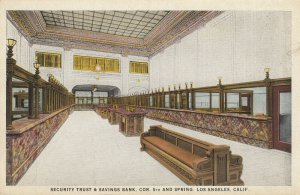 LOS ANGELES , California , 1910s ; Security Trust & Savings Bank