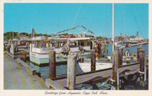 Massachusetts Cape Cod Fishing Boats Greetings From Hyannis