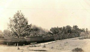 C.1905-10 RPPC Passenger Train C.E.I Boyertown, PA Postcard P165
