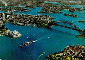 JD0009 australia sydney harbour opera bridge ship kruger publishing house