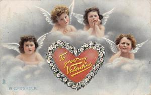 Damaged Valentines Day Postcard Raphael Tucks & Sons Publishing 1912