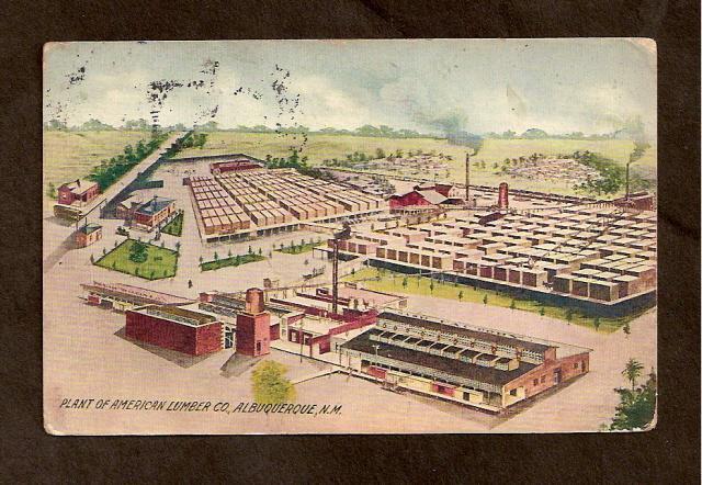 Postcard-American Lumber Co.Plant - Albuquerque, N.M. -1900s