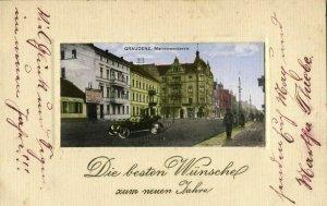 poland, GRAUDENZ GRUDZIĄDZ, Marienwerderstrasse, ul. Wybickiego Józefa (1918)