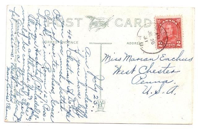 Quebec Postcard Grande Vallee Hill 1931 Gaspe