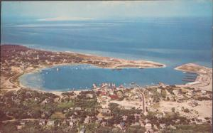 OCRACOKE NC - PANORAMIC OF Outer Banks community showing Ocracoke Villa, 1960s