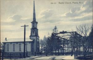 Phenix RI Baptist Church & Bridge c1910 Postcard