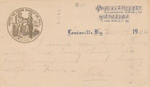 LOUISVILLE , Kentucky, PU-1906; Musical notes and words