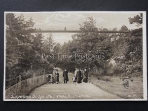 Dorset BOURNEMOUTH Suspension Bridge at Alum Chin c1912 Postcard